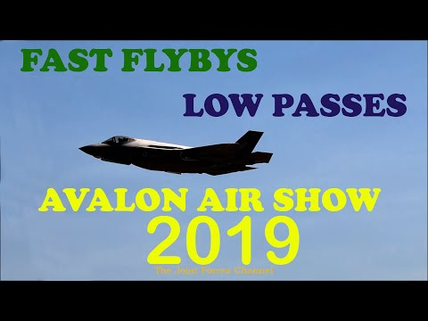 Fighter Jets Fast and Low Flybys At Avalon Airshow 2019