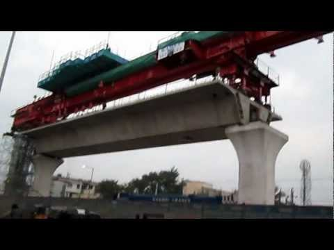Hyderabad Metro Rail Launching Girder near Uppal RTA Office