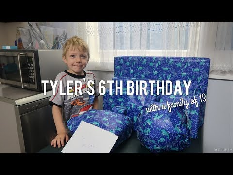 Tyler's 6th Birthday// Present Opening with a family of 13
