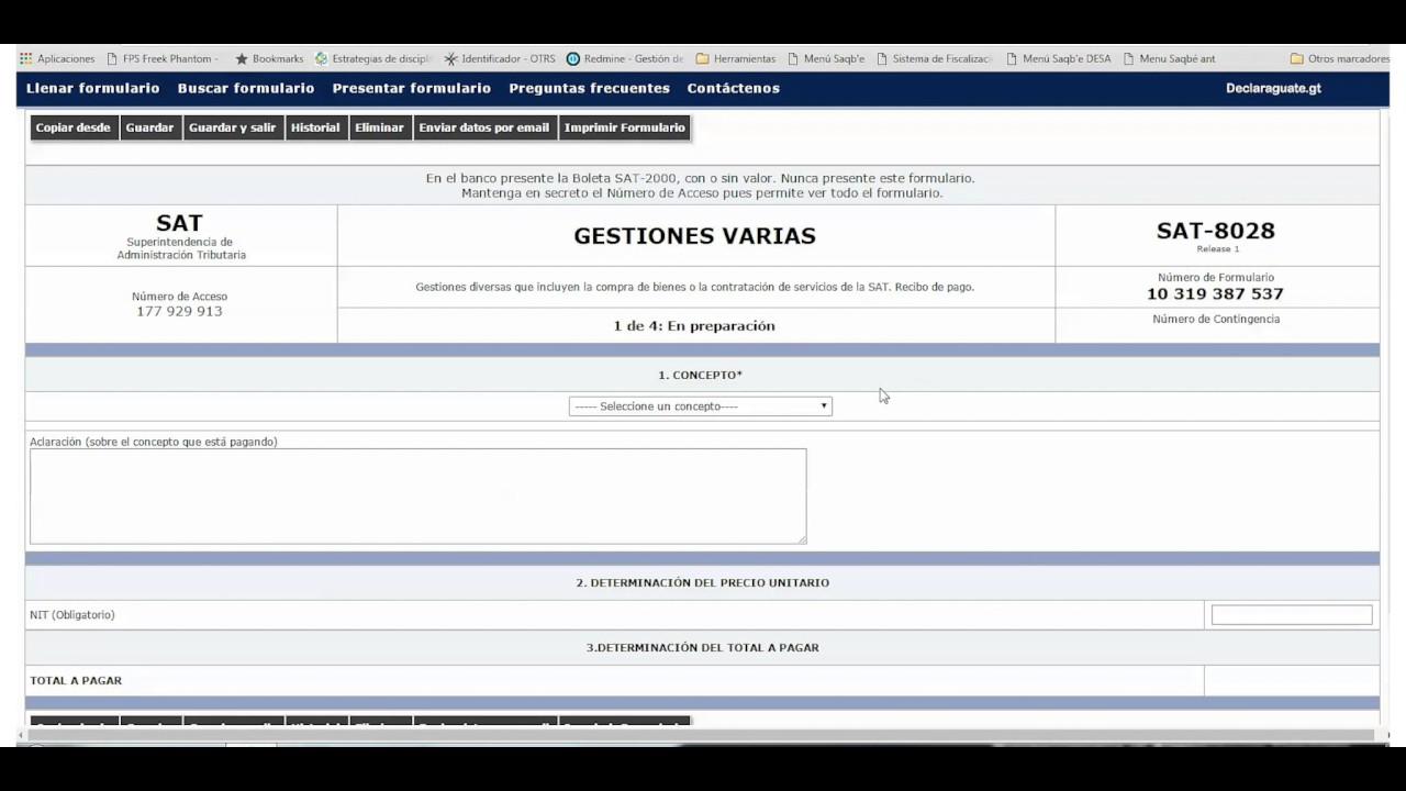 descargar formulario 1108 sat guatemala