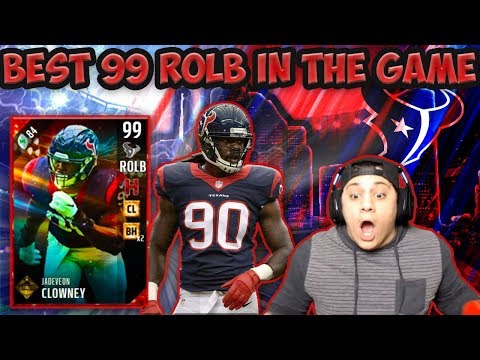 I FOUGHT THROUGH THE BS FOR THIS?! (99 JADEVEON CLOWNEY GAMEPLAY) - MADDEN 17 ULTIMATE TEAM