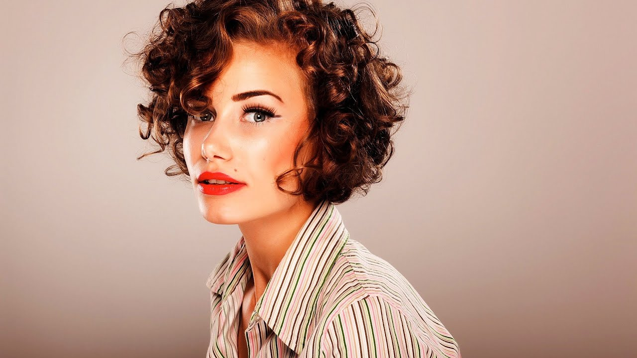 How To Style Short Curly Hair Short Hairstyles Youtube