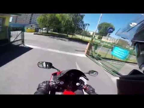 Honda CBR F4i Sport - Free Ride - Nocna Jazda Motocyklem Bez Celu Poznań 2015 - 720p