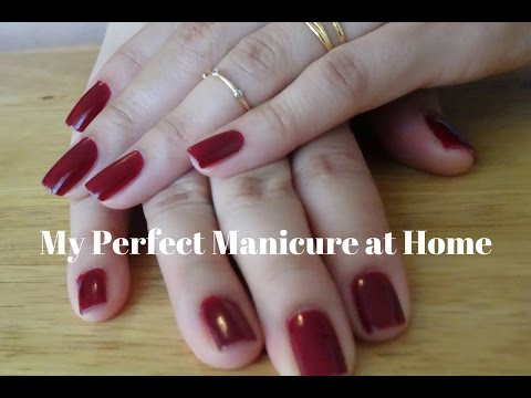 My perfect manicure at home!