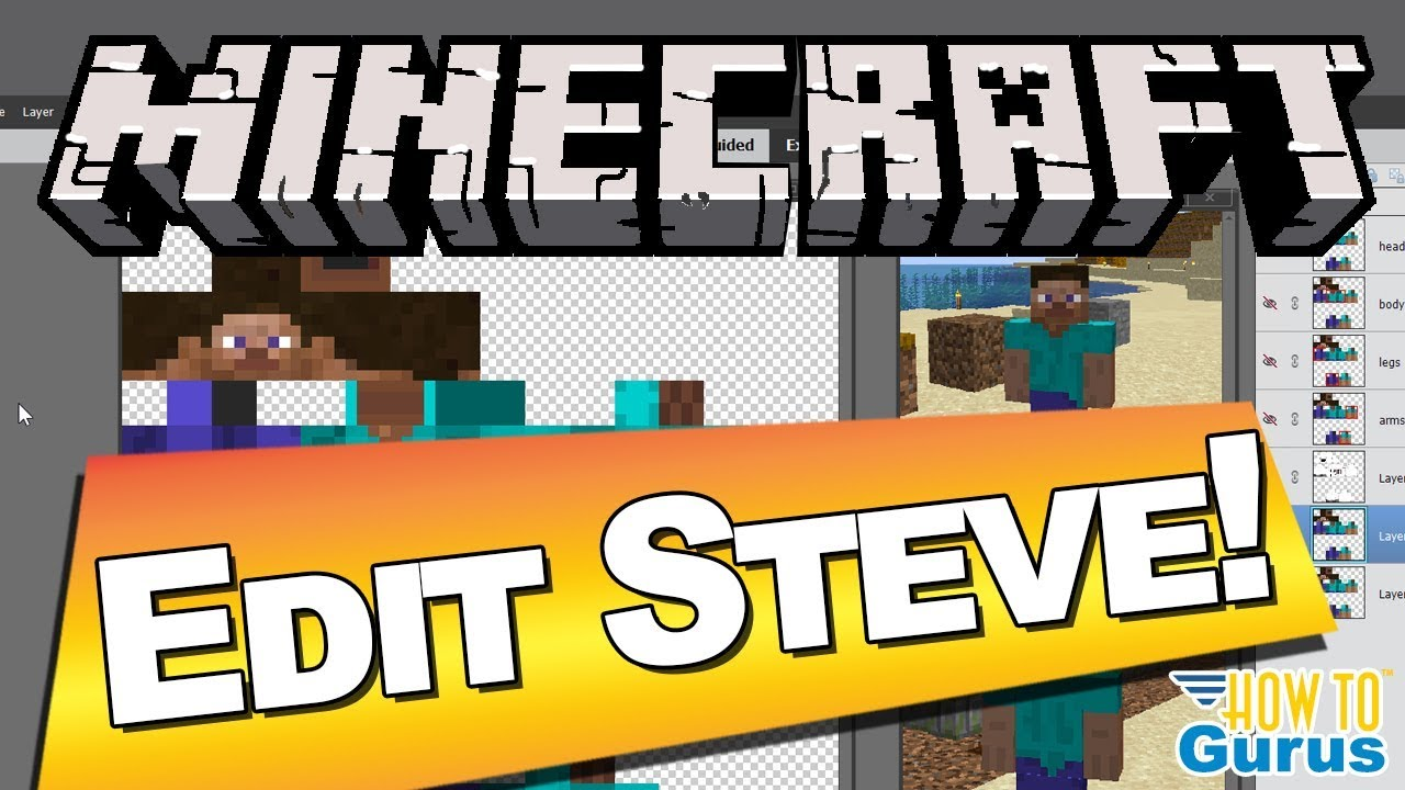Edit Steve Minecraft How To Give Your Character A New Skin Tutorial Minecraft Java Edition Youtube
