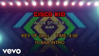 War - Cisco Kid (Karaoke)