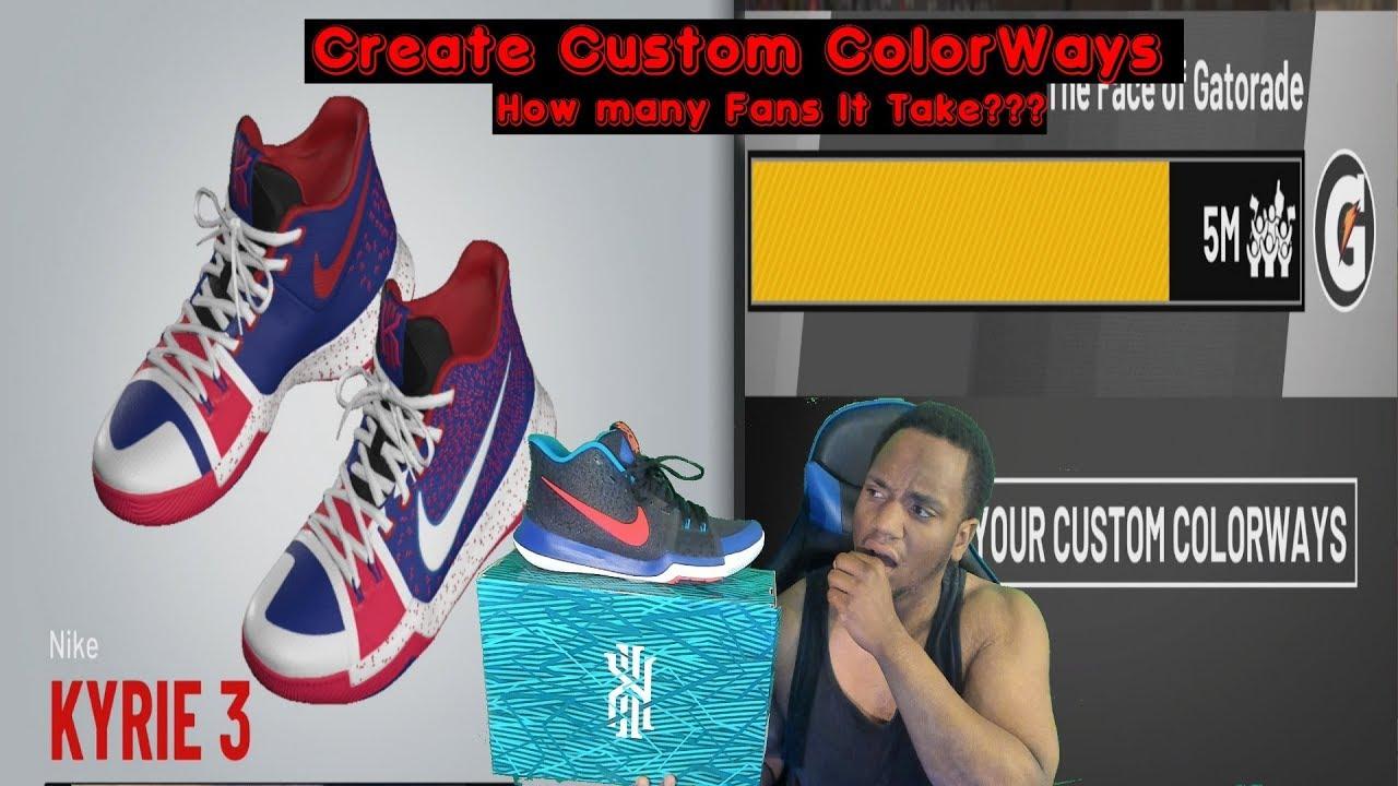 NBA 2k19 Shoe Deal - Custom ColorWays - How many Fans it take  My Career 72c480e7650