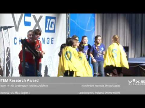Vex IQ Bank Shot 6210A STEM Award at Vex Worlds 2016 - YouTube