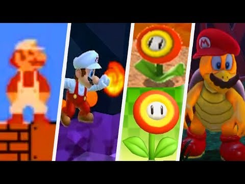 Evolution of Fire Flowers in Super Mario Games (1985 - 2017)