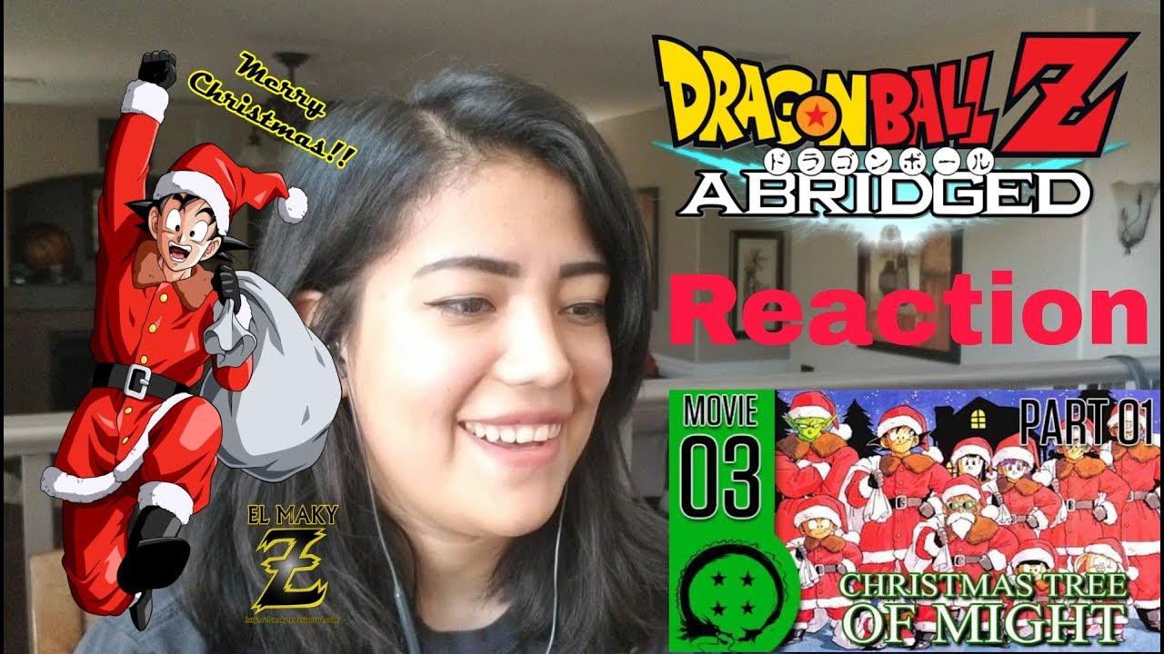 REACTION: Dragon Ball Z Abridged Movie Christmas Tree of Might - YouTube