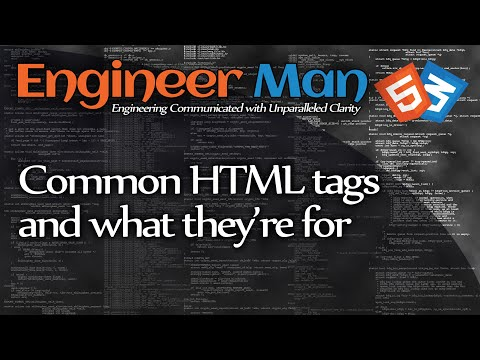 Common HTML Tags And What They Are For (HTML/CSS Basics)