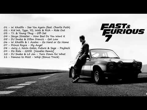 (Fast and furious songs) - Soundtracks - Furious 7 - For Paul Walker