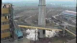 Elektrownia Konin burzenie komina