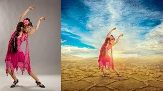Photoshop Manipulation Tutorial | Desert Girl Photo Effects