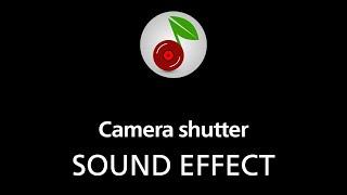 Camera shutter, sound effect