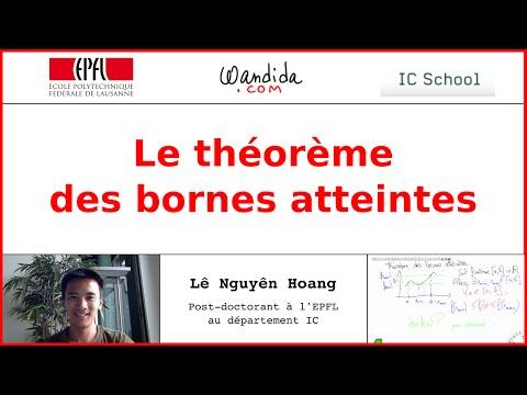 Théorème des bornes atteintes   Lê Nguyên Hoang