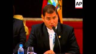 Leaders of Andean Community Nations meet