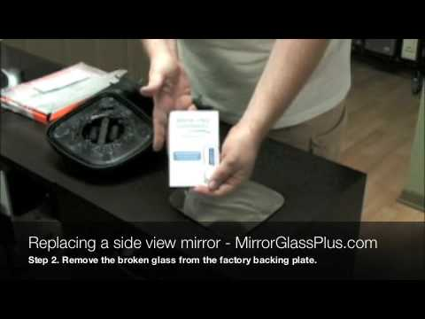 How To Replace A Broken Side View Mirror Glass Youtube