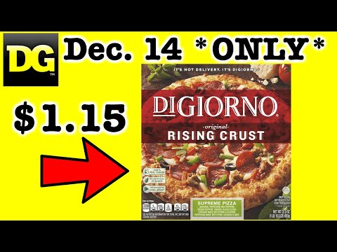 CHEAP PIZZA:  Dollar General Deals $5/25  For Dec. 14!