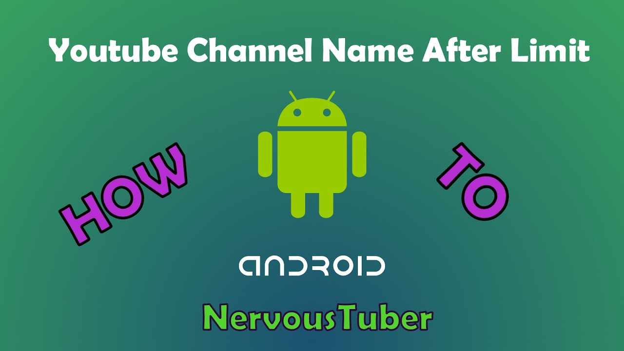 how to choose a youtube channel name