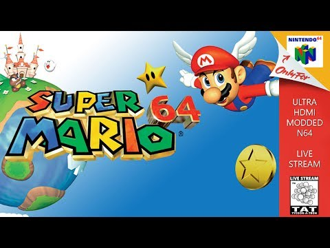 Super Mario 64 - Live Stream - Ultra HDMI Nintendo 64