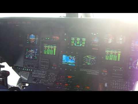 Bristow Norwich S76C++ 7. North Sea Pilot Cabin look around