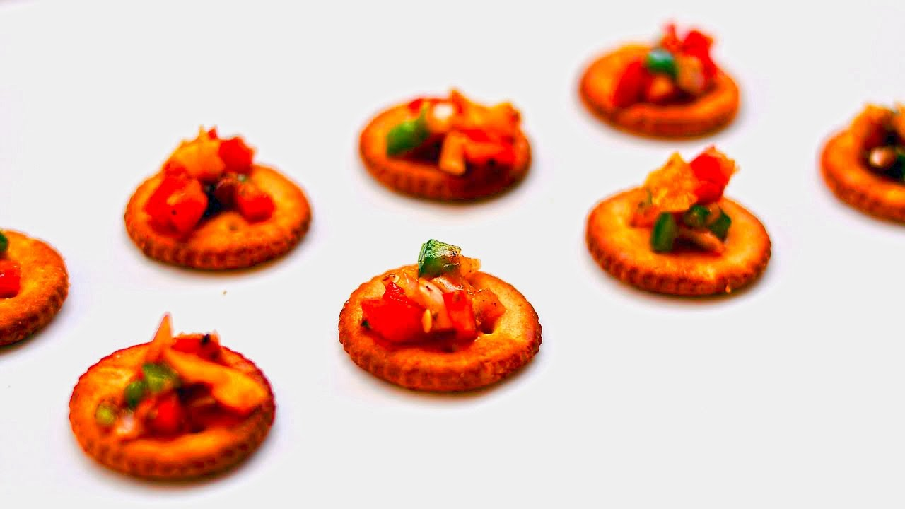 Nachos | Biscuit Canapes | Toppings | Dips | Snacks u0026 Starters | Kids Recipes @ Guruu0027s Cooking  sc 1 st  YouTube : canopy starters - memphite.com