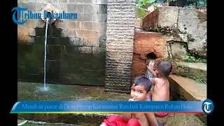 Mandi air panas di Desa Pawan Kecamatan Rambah Kabupaten Rokan Hulu