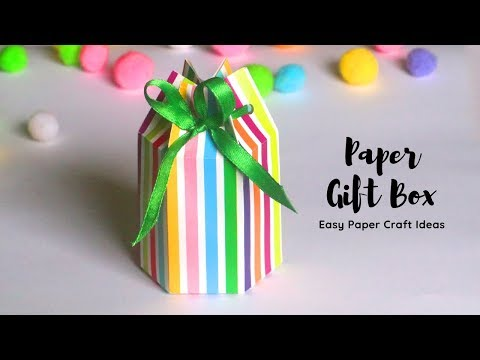 DIY Paper Gift Box | Paper Crafts Easy | Handmade Gift Box Craft with Paper