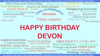Devon   Languages Idiomas - Happy Birthday