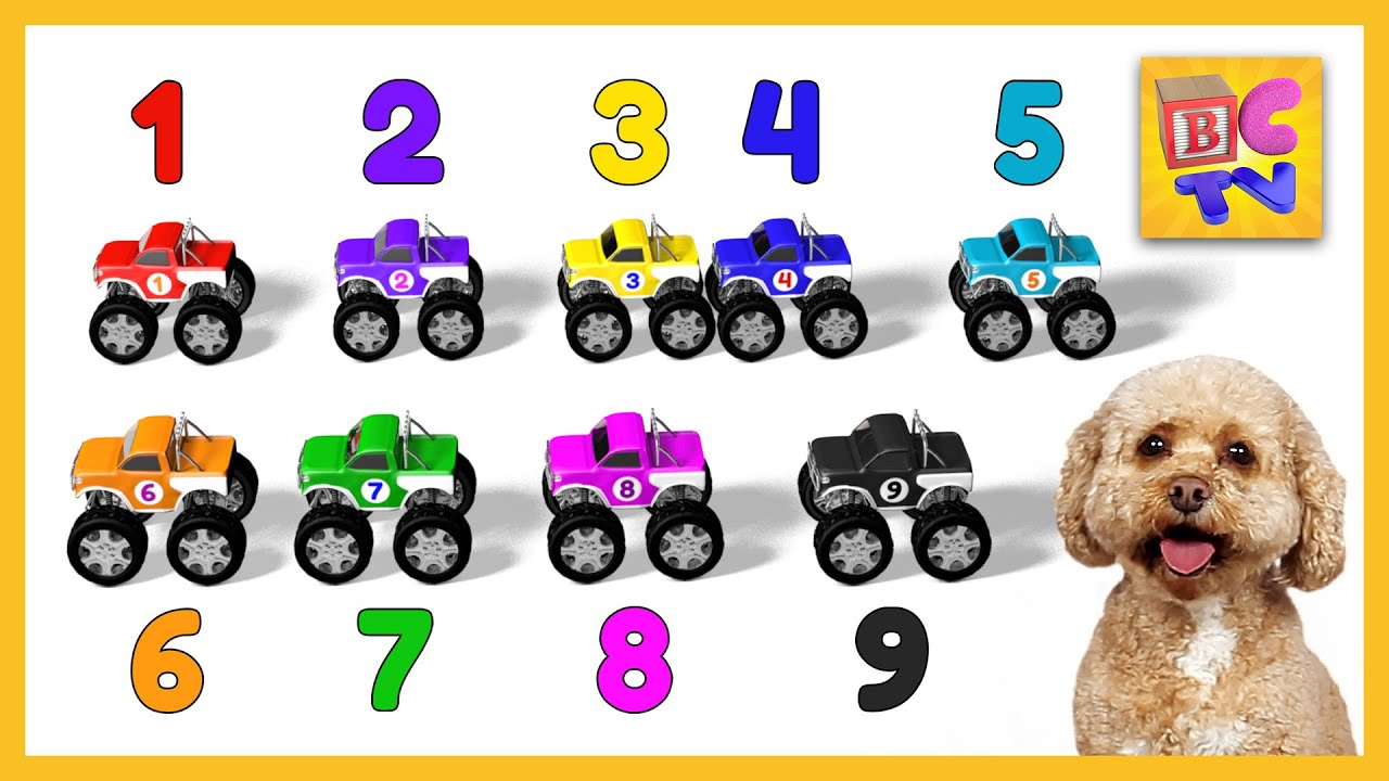 Learn To Count To 10 With Monster Trucks