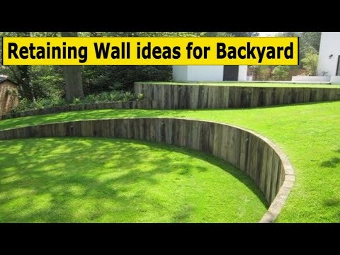 10 Retaining Wall ideas for sloped backyard decorating