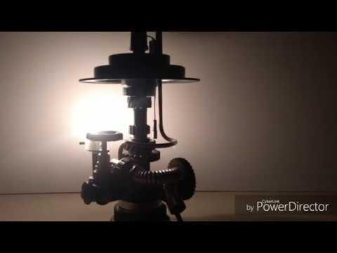 Homemade Steampunk Gear Lamp #3 - DIY