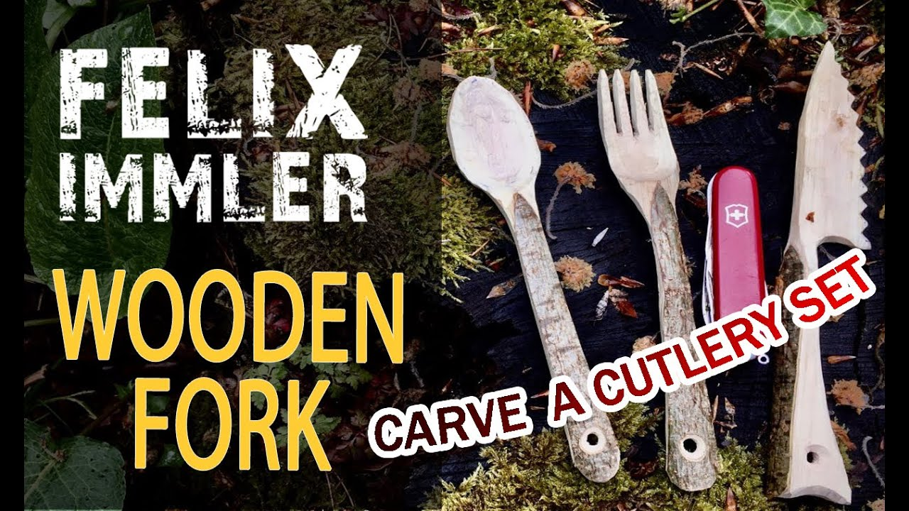 How to carve a wooden fork - Make your own cutlery set (2/3) - Victorinox Swiss Army Knife project
