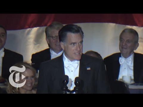 Election 2012 | Romney Laughs It Up at Al Smith Dinner | The New York Times
