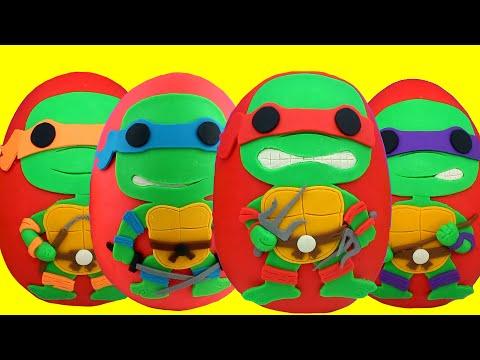 Teenage Mutant Ninja Turtles Play Doh  Eggs Compilation - Leonardo Raphael Michelangelo & Donatello