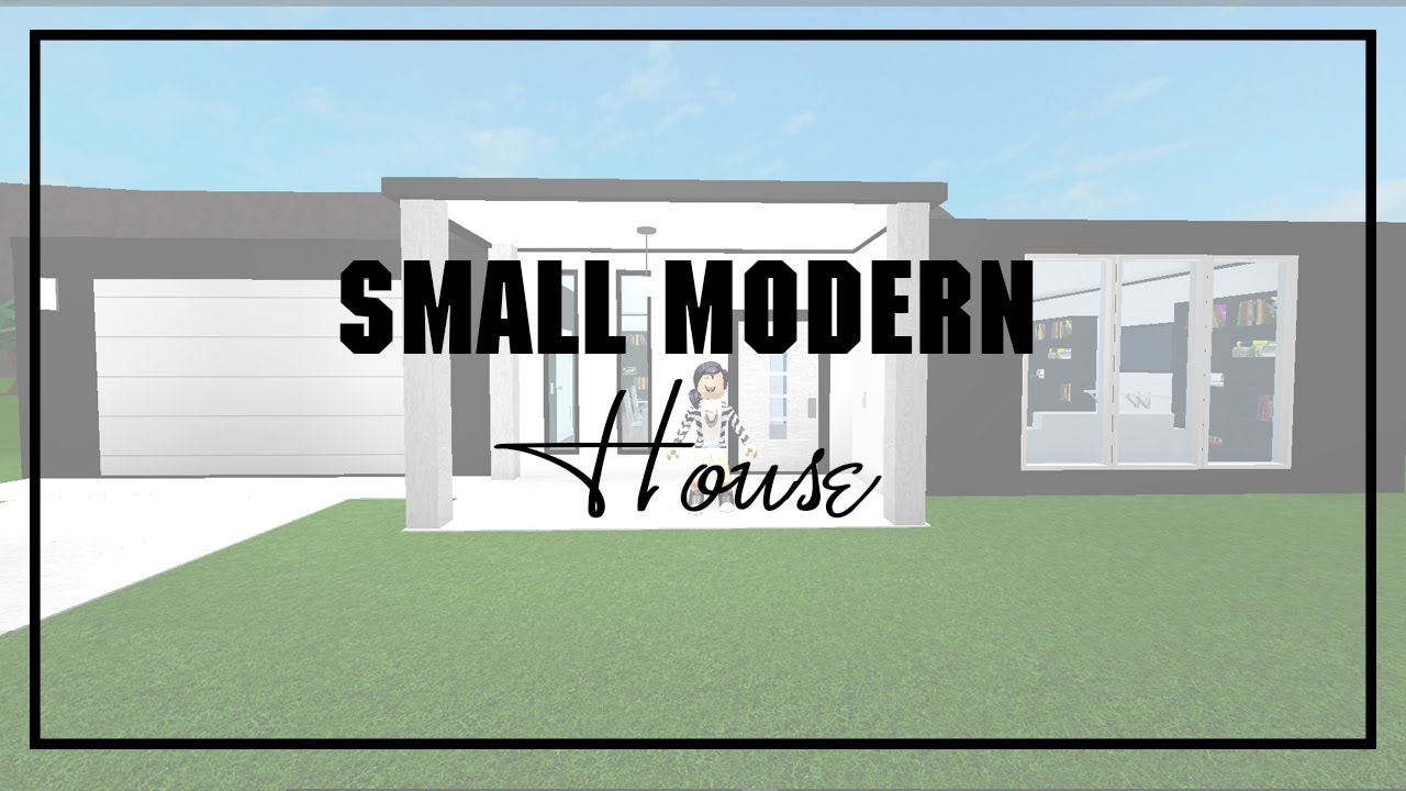 Roblox welcome to bloxburg small modern house youtube for Casa moderna bloxburg