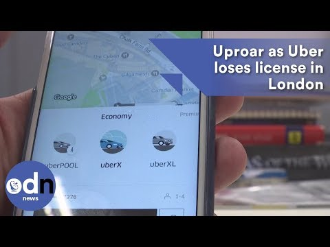 Uproar as Uber loses license in London