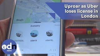 Uproar as Uber loses license in London