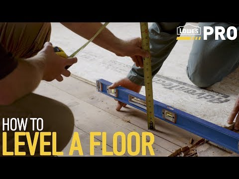 How To Level a Floor | Lowe's Pro How-To