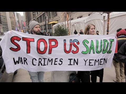 US, Saudi CEOs Sign $20B Deals in NYC as Protesters Condemn Catastrophic War on Yemen