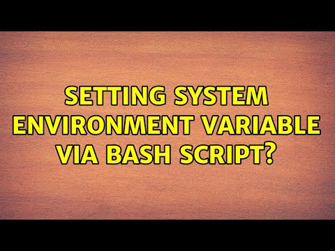 Ubuntu: Setting System Environment Variable Via Bash Script?
