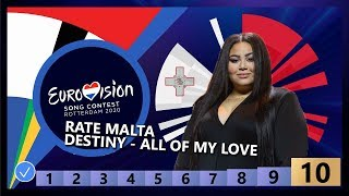 🇲🇹RATE MALTA - Destiny - All Of My Love - Malta Eurovision 2020