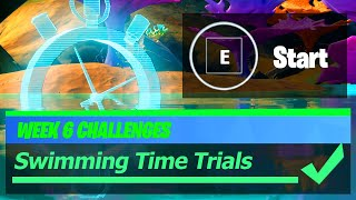 Complete the SWIMMING TIME TRIAL at Weeping Woods or Coral Castle Locations - Fortnite