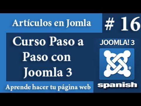 Que son los artículos en Joomla