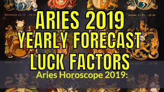 Aries Mesha Rashi Lucky Factors And 2019 Horoscope. Aries 2019 Horo...