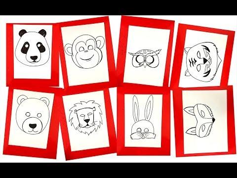 Hướng dẫn cách học tập vẽ mặt nạ các con vật   Học vẽ con vật   Dạy bé học   Foci