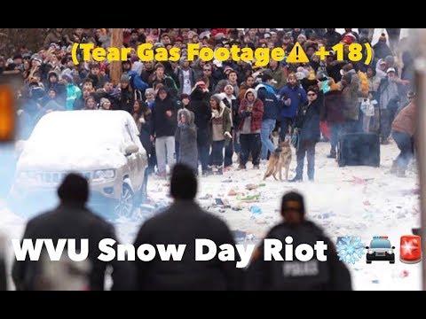 WVU Snow Day Riot  2019❄️🚔🚨(TEAR GAS WARNING⚠️ +18)