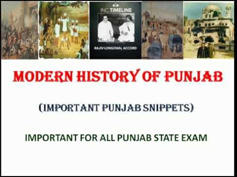 PUNJAB HISTORY, MODERN HISTORY OF PUNJAB,RELIGIOUS MOVEMENTS,SOCIAL REFORMS, BLUE STAR,LONGOWAL PACT