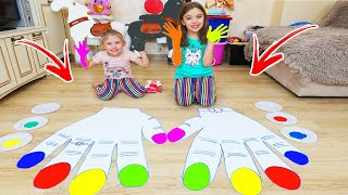 MAINI MARI   Copiii Vopsesc Unghiile   Video Educativ Melly Karamely